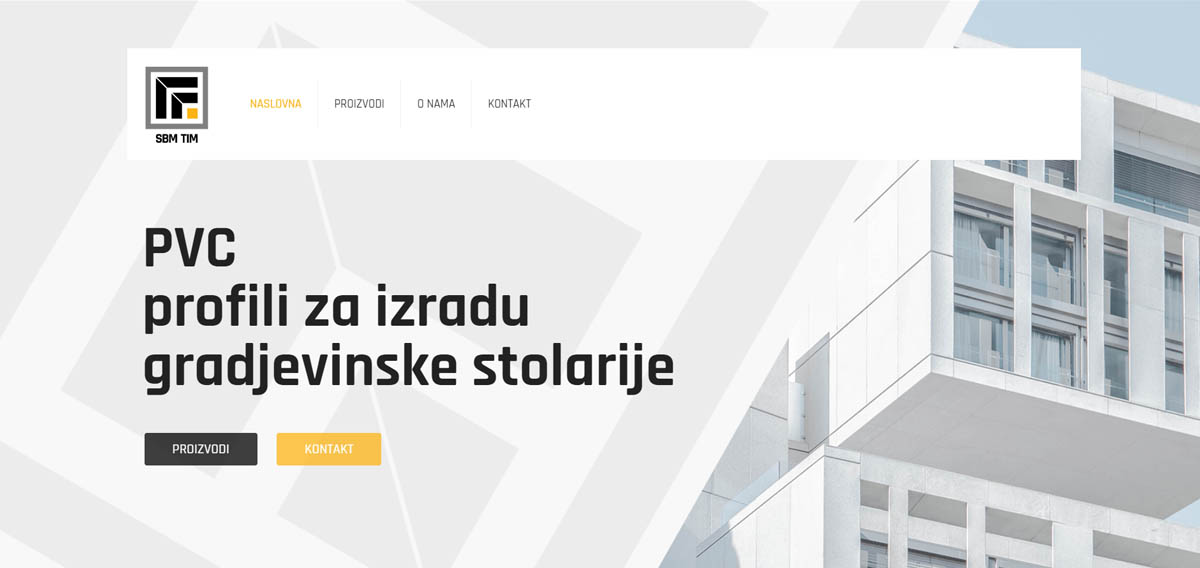 izrada sajta pvc profili x lobo house
