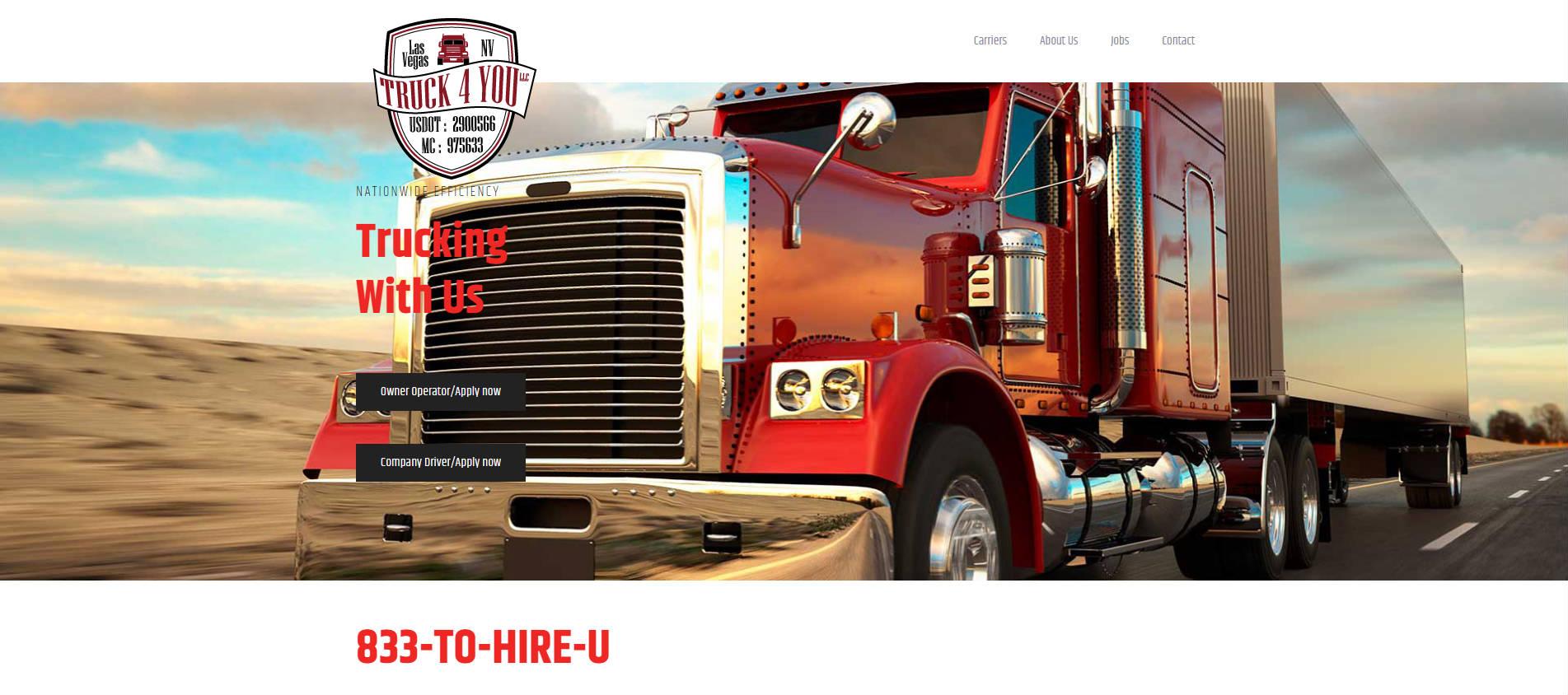 truck4you ewbsite web rešenja lobohouse